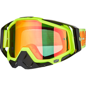 100% Racecraft Anti Fog Mirror Goggles, attack yellow